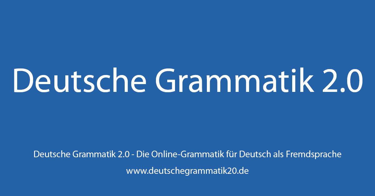 übungsbuch Zur Deutschen Grammatik 20 Deutsche Grammatik 20